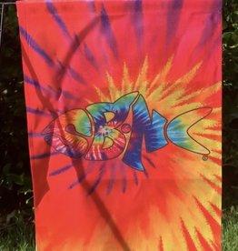 SBNC FISH GARDEN FLAG RAINBOW TIE-DYE
