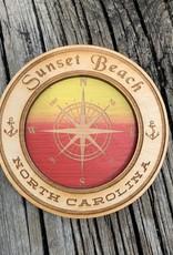 COMPASS CIRCLE SUNSET MAGNET