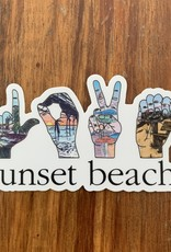 STICKER (S) LOVE SUNSET BEACH