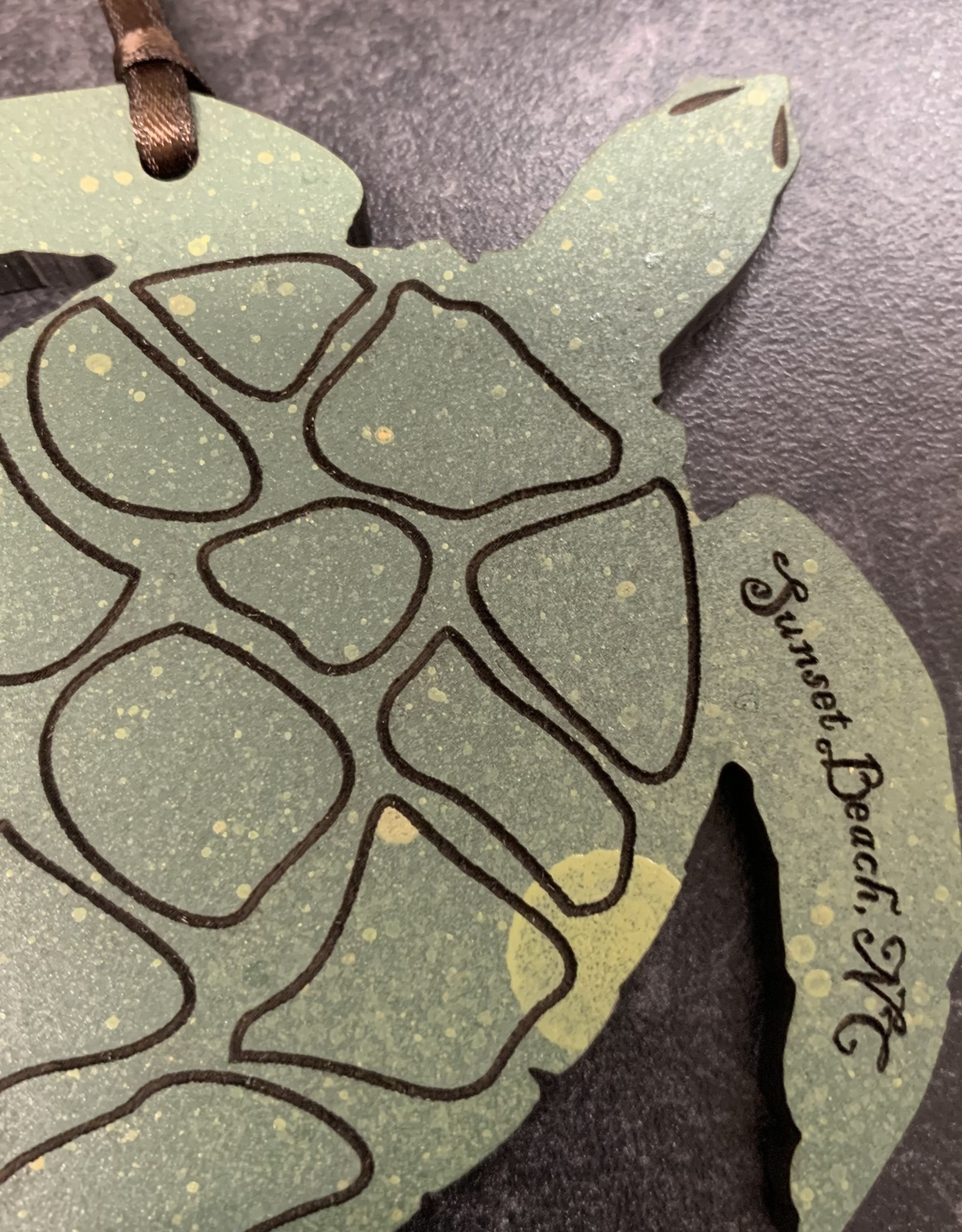 ETCHED SEA TURTLE ORNAMENT
