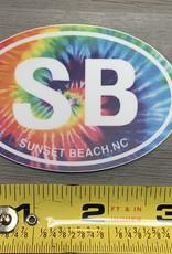 STICKER (S) SB OVAL RAINBOW TIE-DYE
