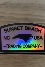 STICKER (S) SUNSET BEACH TRADING COMPANY HOLOGRAM