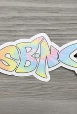 sbncfish STICKER (S) SBNC FISH PASTEL TIE-DYE