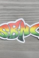 sbncfish STICKER (S) SBNC FISH RASTA