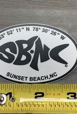 sbncfish STICKER (S) SBNC FISH LAT/LONG OVAL