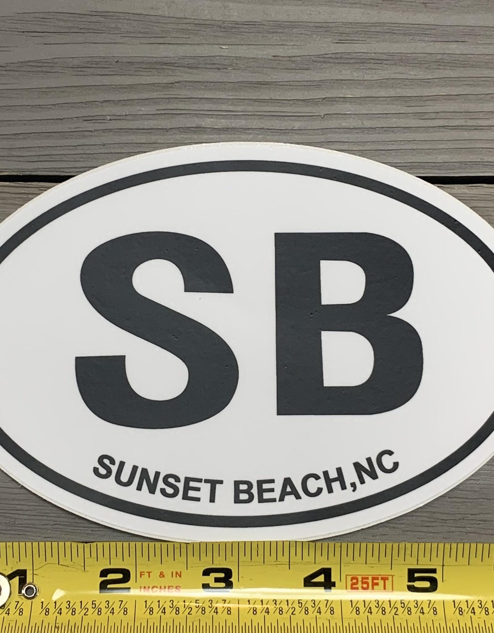 STICKER (L) SB OVAL WHITE