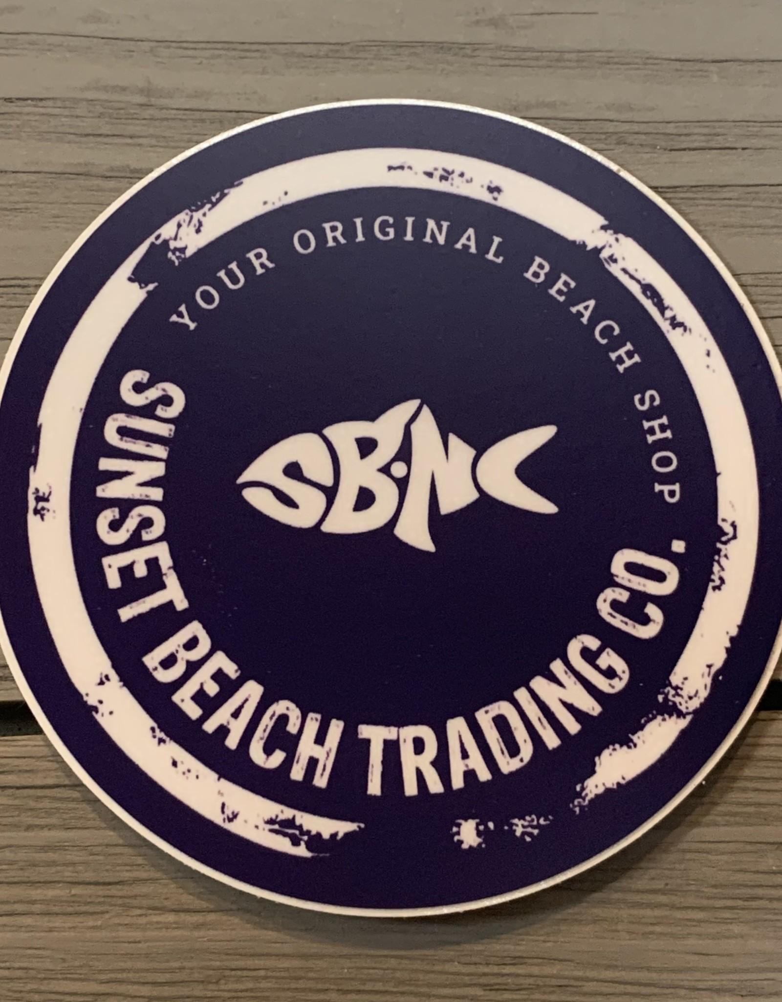 sbncfish STICKER (L) SB TRADING CO SBNC FISH CIRCLE
