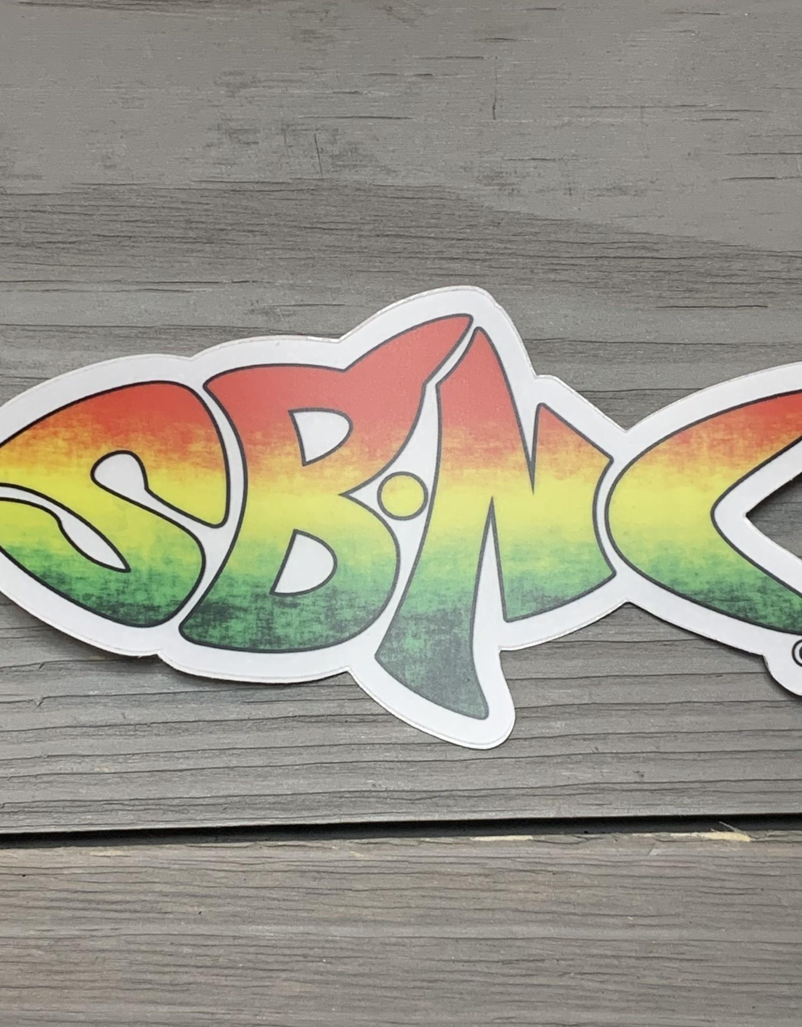 sbncfish STICKER (L) SBNC FISH RASTA