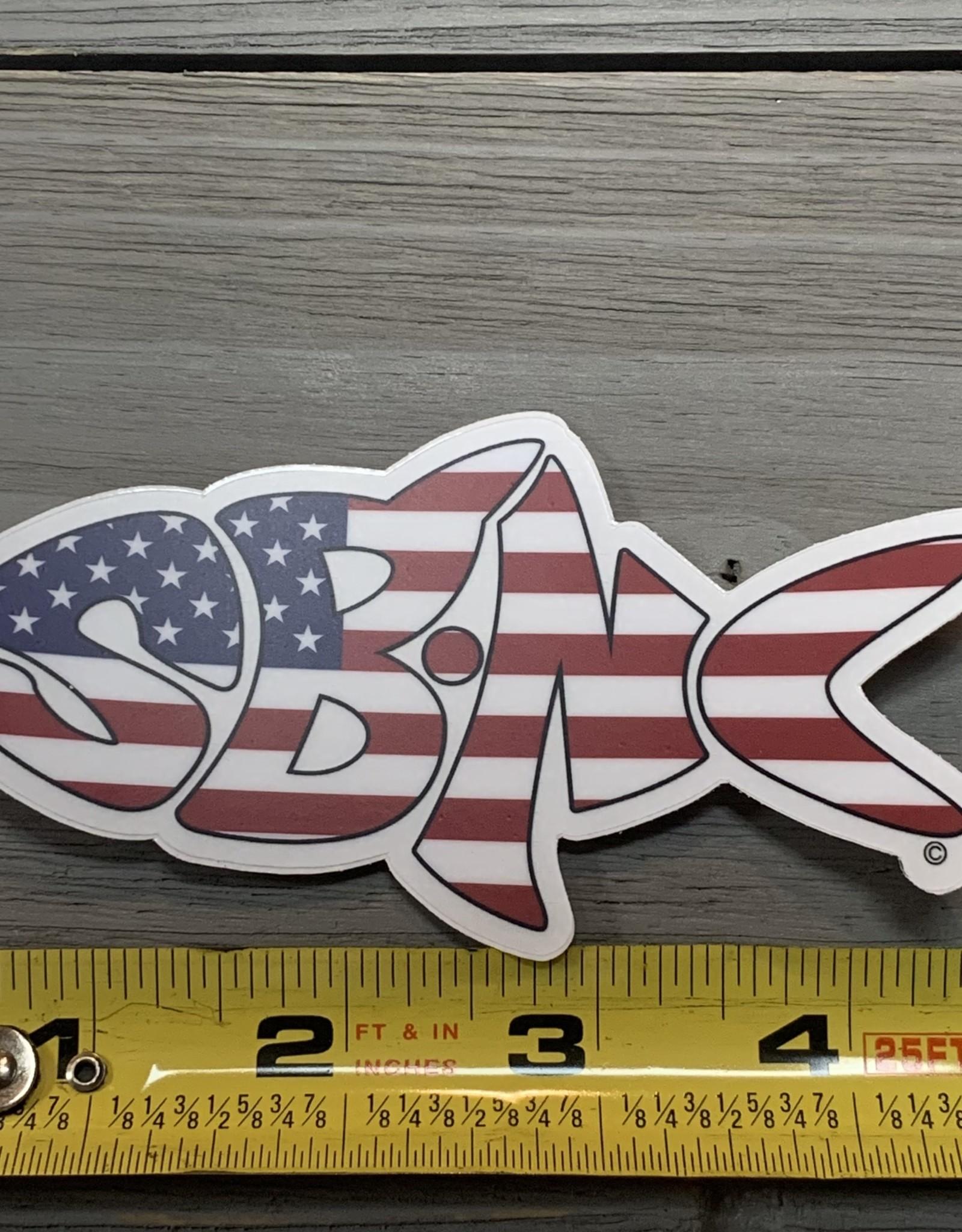 sbncfish STICKER (L) SBNC FISH USA CLEAR