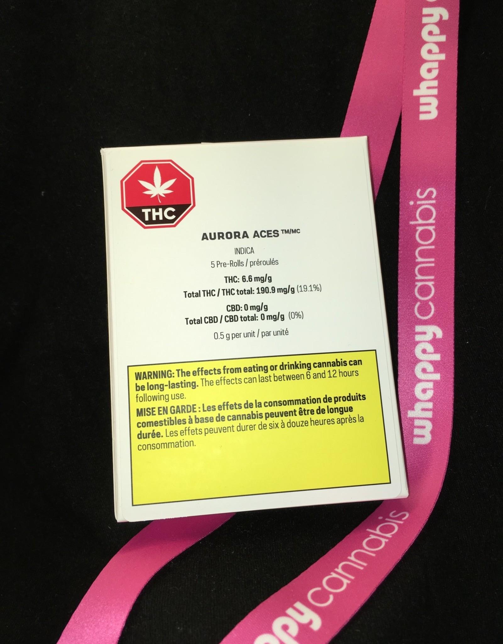 Aurora Aurora - THC Indica Aces Pre-Roll (5pc x 0.5g)