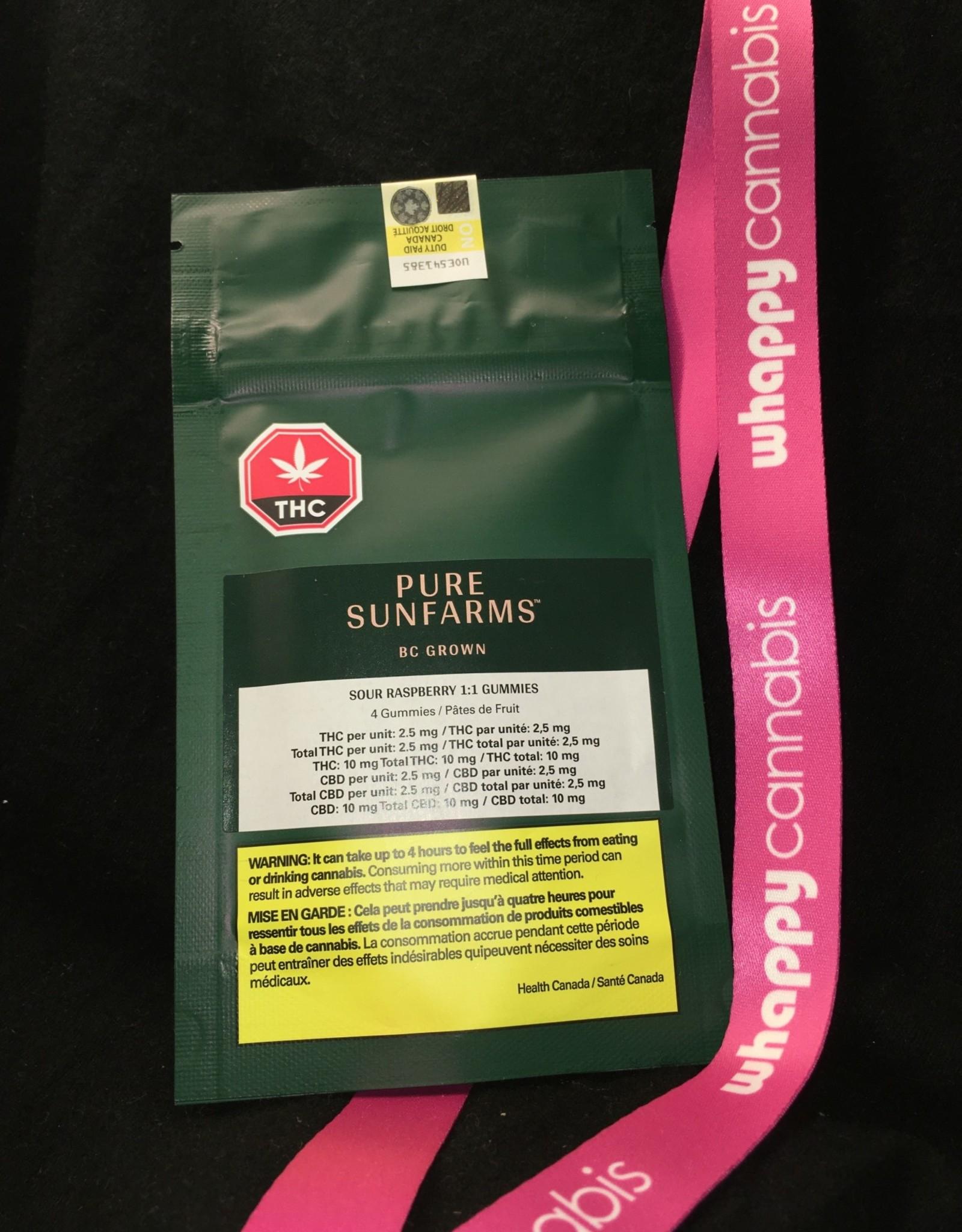 Pure Sunfarms Pure Sunfarms - Balanced Sour Raspberry Soft Chew Blend 18g (4pc)