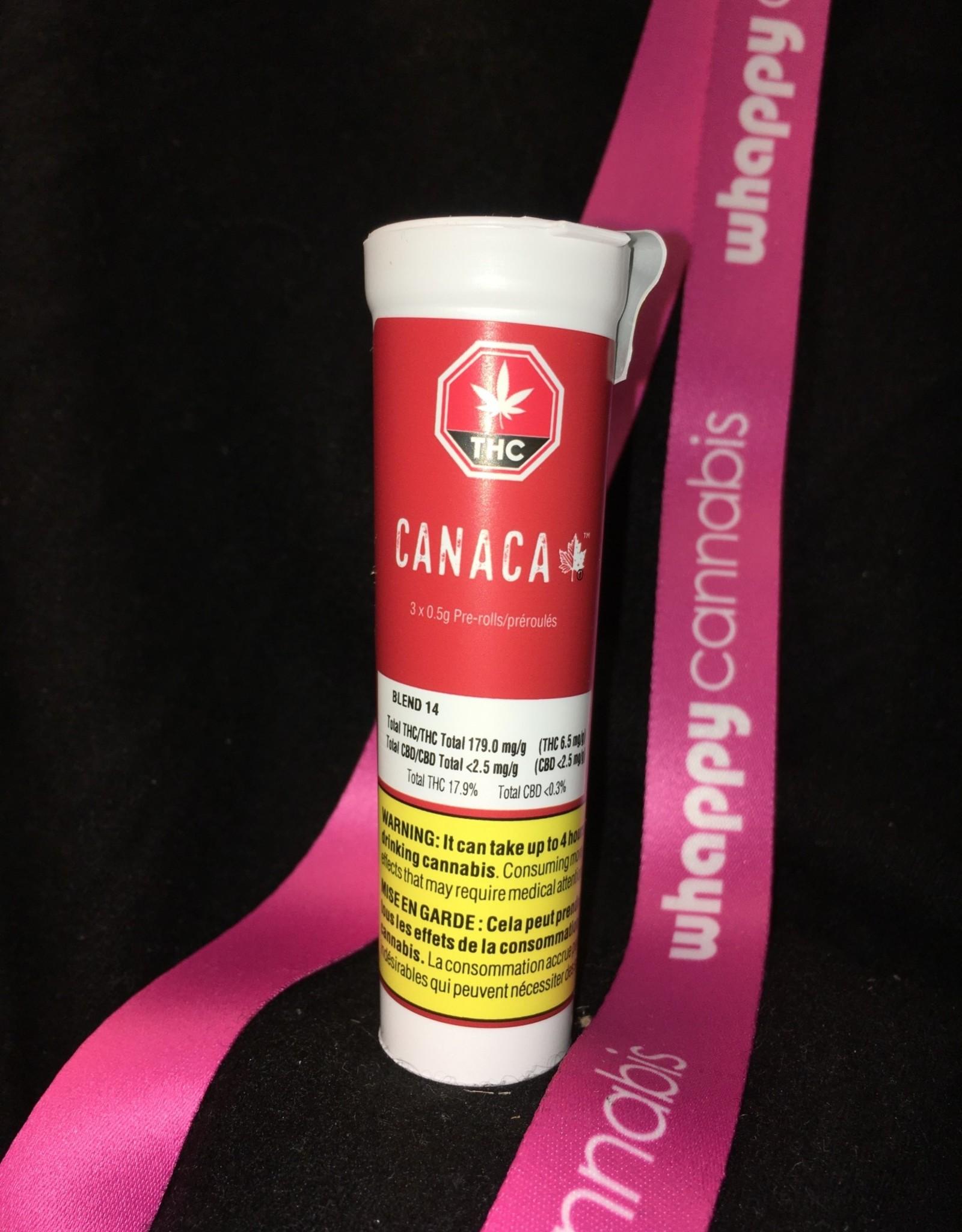 Canaca Canaca - Blend 14 Indica Pre-Roll (3pc x 0.5g)