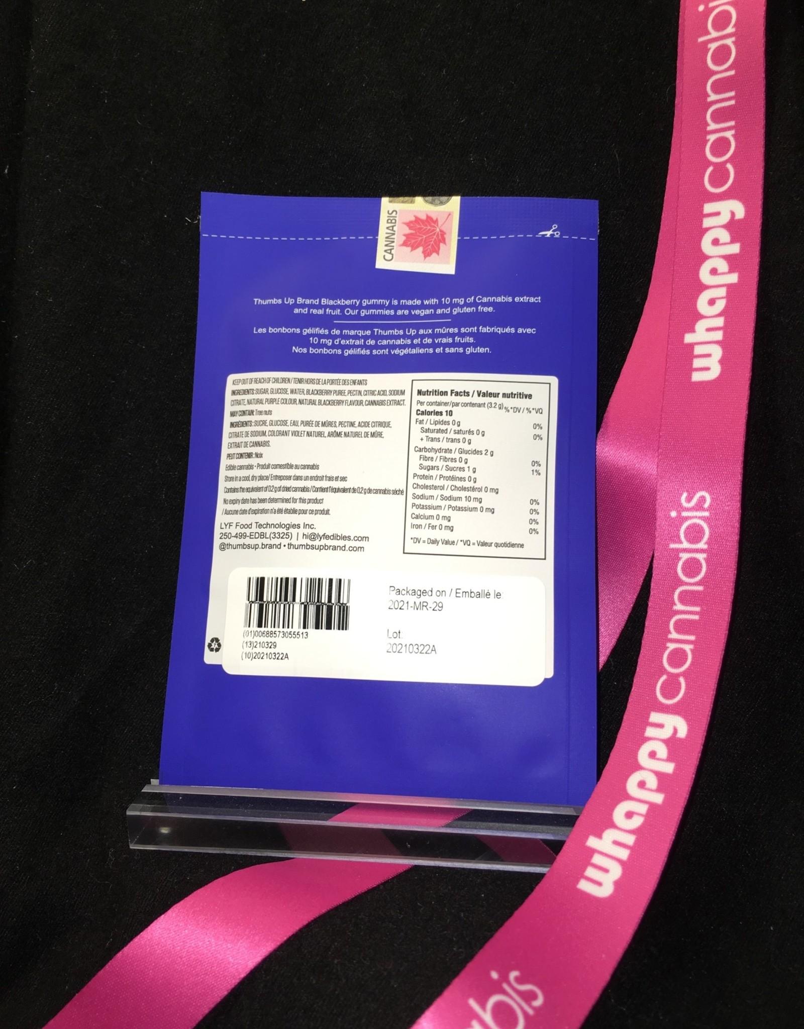 Thumbs Up Brand Thumbs Up - THC Blackberry Soft Chew Hybrid 3.2g (1pc)