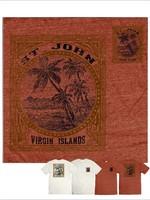 St. John Beach Bum Mea Culpa Palms Tri-Blend Tee
