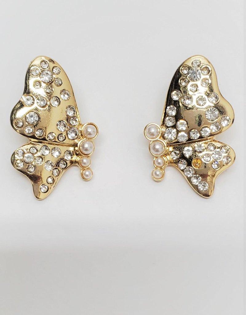 Ivory Sheep Crystal Butterflies
