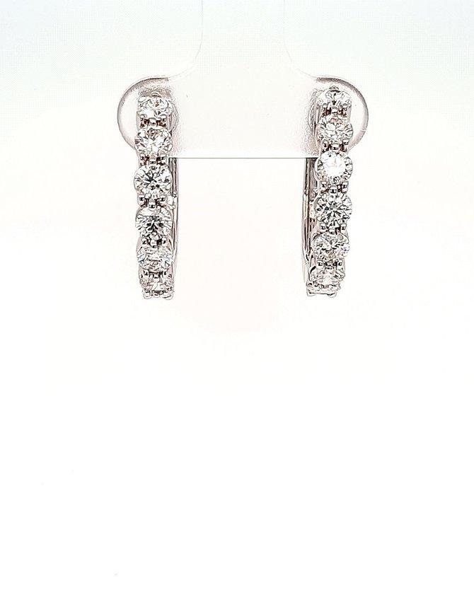 Diamond hoop earrings, 14k