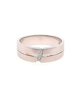 Diamond (0.06 ctw) band, 14k white gold