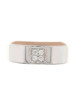 Diamond (0.10 ctw) band, 14k white gold