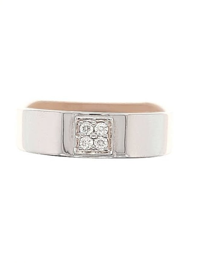 Diamond (0.10 ctw) band, 14k white gold
