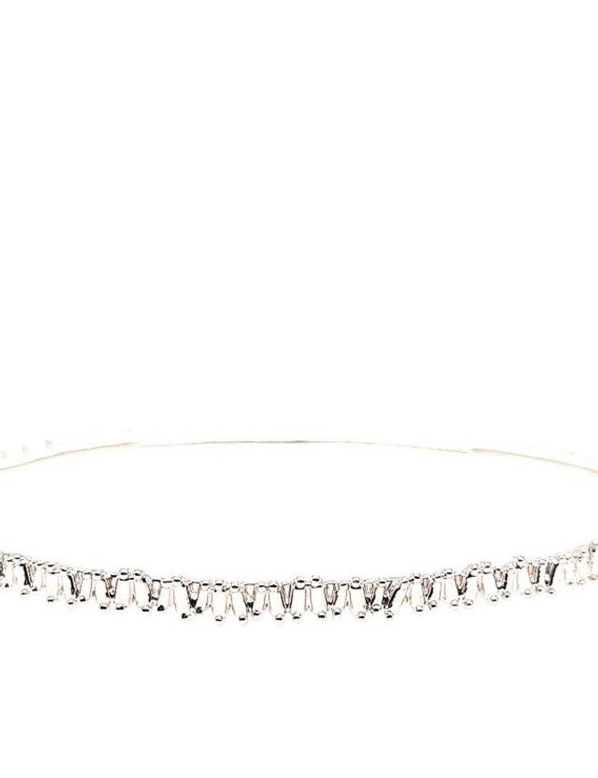 Diamond (0.75 ctw) bangle bracelet, 14k white gold