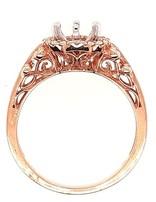 Diamond (0.09 ctw) halo beaded setting, 14k rose gold