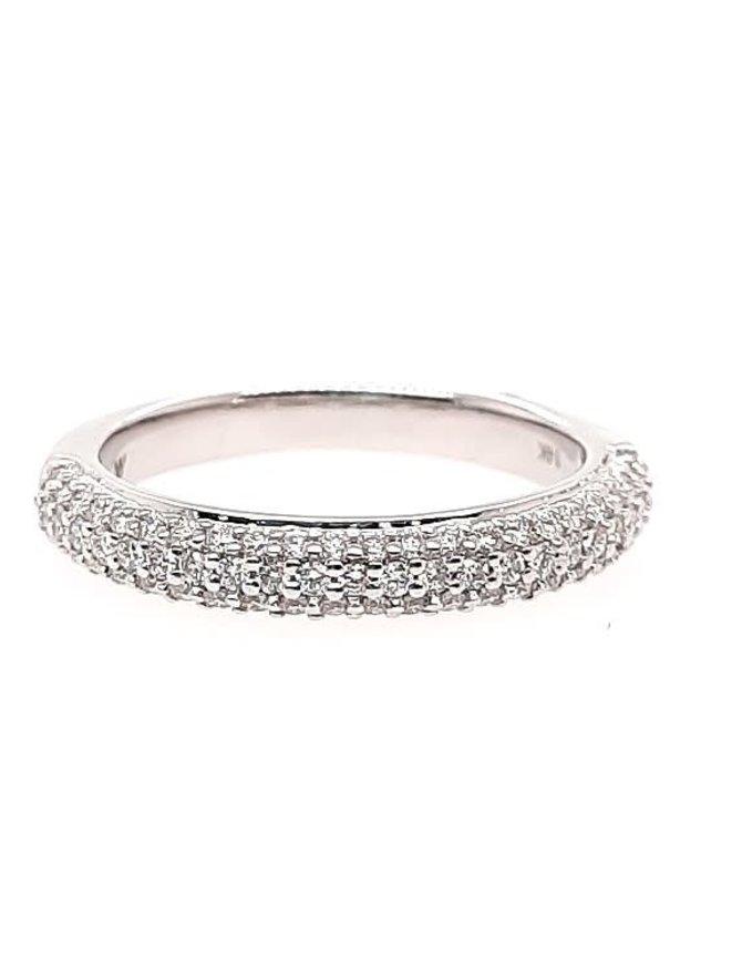 Diamond (0.50 ctw) band, 14k white gold