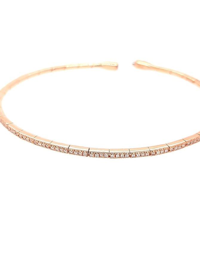 Diamond (0.27 ctw) bangle bracelet, 18k rose gold