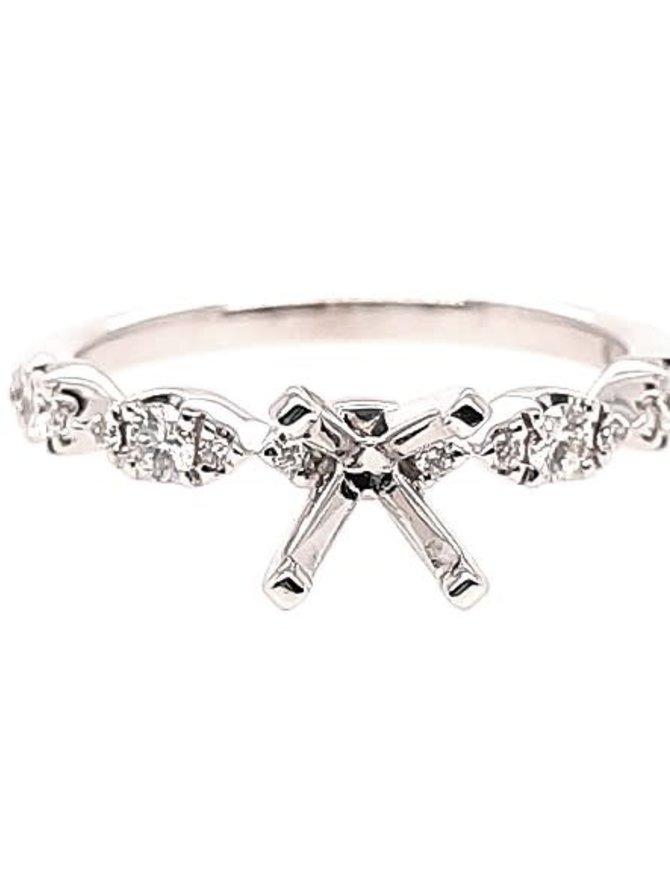Marquise diamond (0.25 ctw) setting, 14k white gold