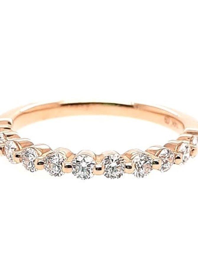 Diamond (0.50 ctw) prong set band, 14k yellow gold