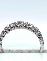 Diamond (0.25 ctw) crown style band, 14k white gold, 2.5 grams