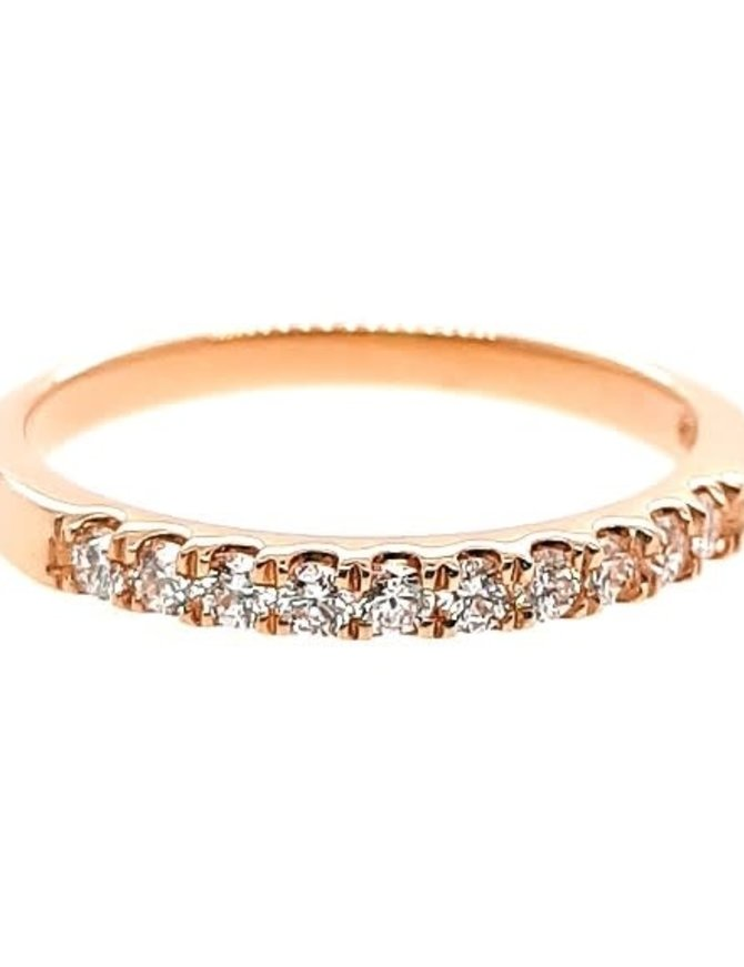 Diamond (0.25 ctw) prong band, 14k yellow gold
