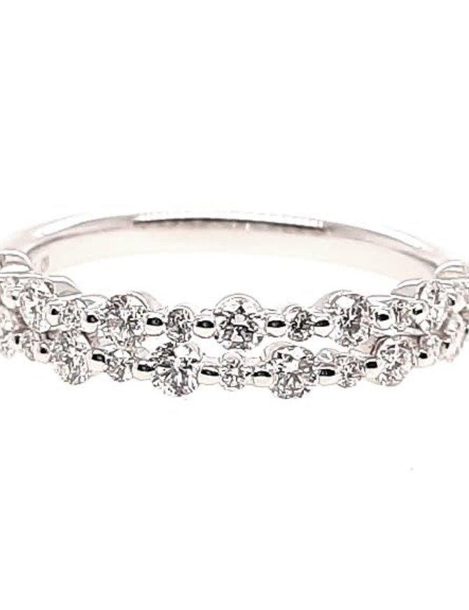 2-row diamond (0.64 ctw) band, 14k white gold