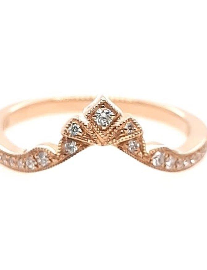 Diamond (0.11 ctw) tiara look band, 14k yellow gold