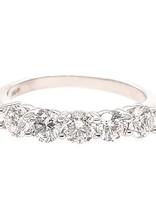 Diamond (1.00 ctw) prong band, 14k white gold