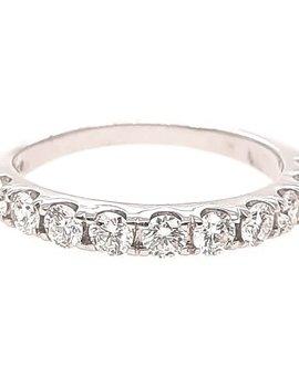 Diamond (0.75 ctw) prong band, 14k white gold
