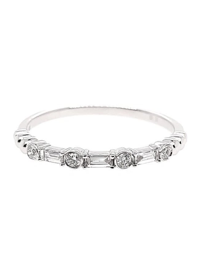 Diamond (0.19 ctw) stackable band, 14k white gold