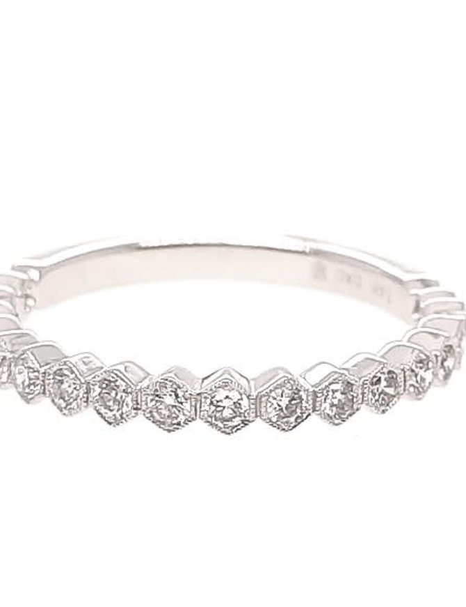 Diamond (0.37 ctw) stackable band, 14k white gold