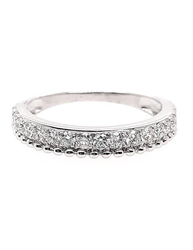 Diamond (0.50 ctw) ball edge band, 14k white gold