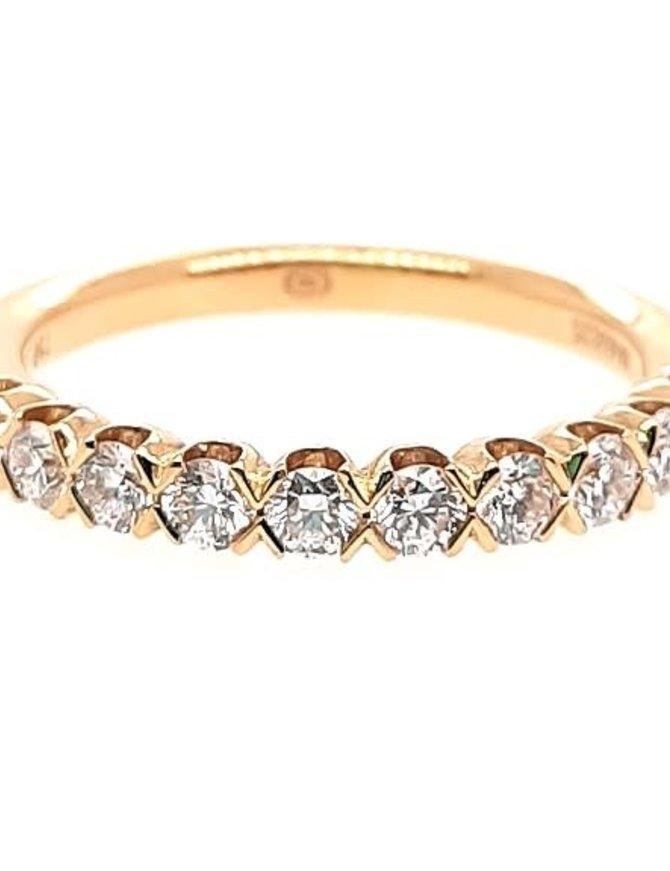 Crisscut diamond (0.55 ctw) band, 18k yellow gold