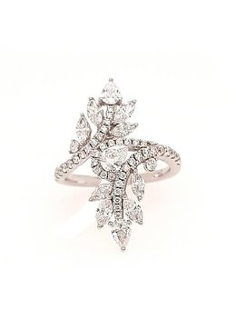 Diamond (1.74 ctw) fashion ring, 18k white gold