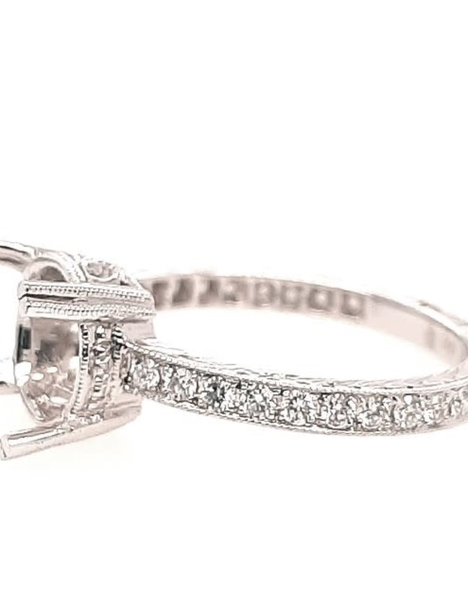 Diamond (0.35 ctw) setting, 18k white gold