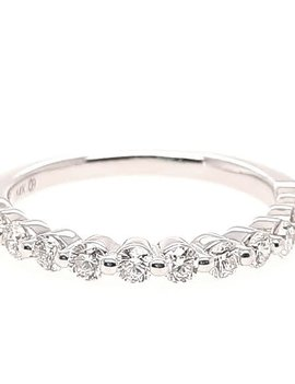 Diamond (0.50 ctw) bead prong band, 14k white gold