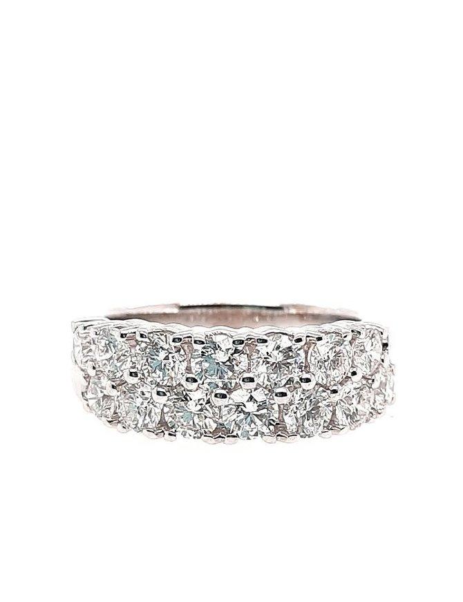 2-row diamond (2.00 ctw) band, 14k white gold