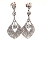 Diamond (4.94 tcw) Dangle Earrings, 18kt White Gold