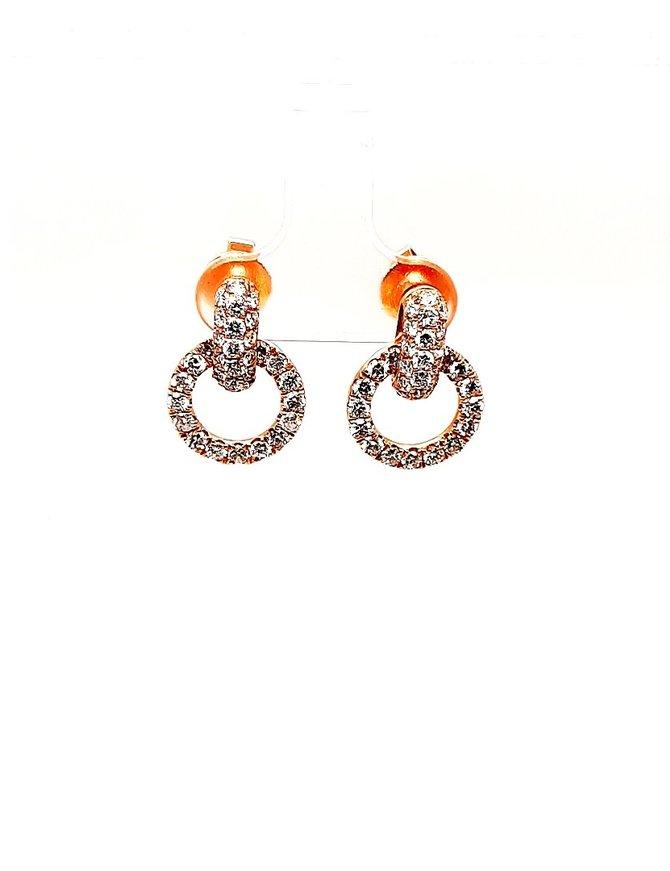 Diamond (2.0 ctw) Dangle Earrings 18kt Rose Gold