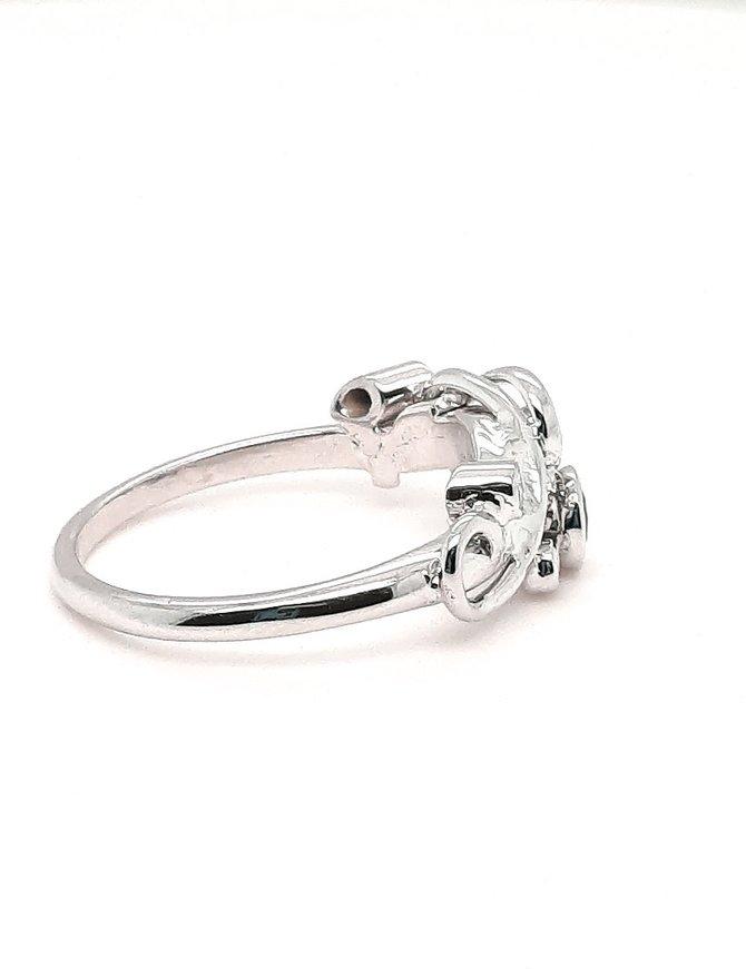 TQ Original Sapphire (0.20 ctw) & Diamond Ring 14kt White Gold 3.0 g