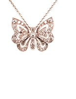 Diamond (.44 ct) Butterfly Necklace 18kt White Gold 4.9g