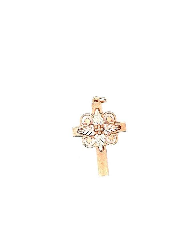 Cross (10kt) Rose & Yellow Gold 1.01g