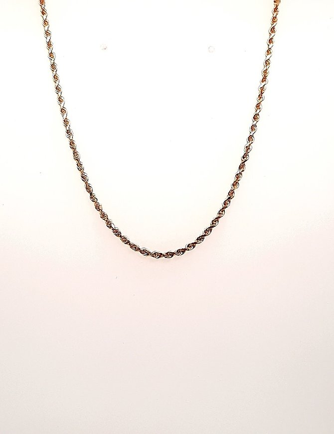 Diamond Cut Rope Chain 14kt 6.1g
