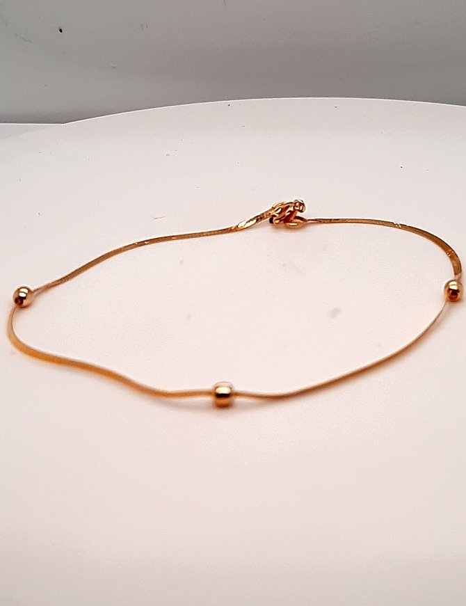 Bracelet with Beads Yellow Gold .7g